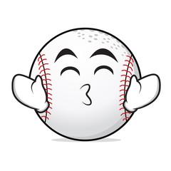 Kissing smile eyes baseball character
