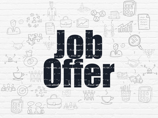 Finance concept: Job Offer on wall background