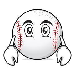 Flat face baseball character cartoon