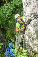 Abenteuer Klettersteig an der Steilwand