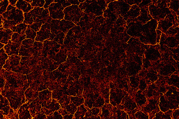 Lava crack asphalt texture surface background.