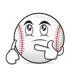 thinking face baseball cartoon character
