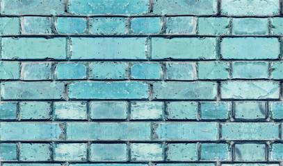 seamless texture old  blue cracked brickwork