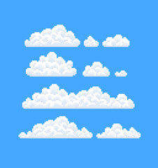 Pixel Art Clouds