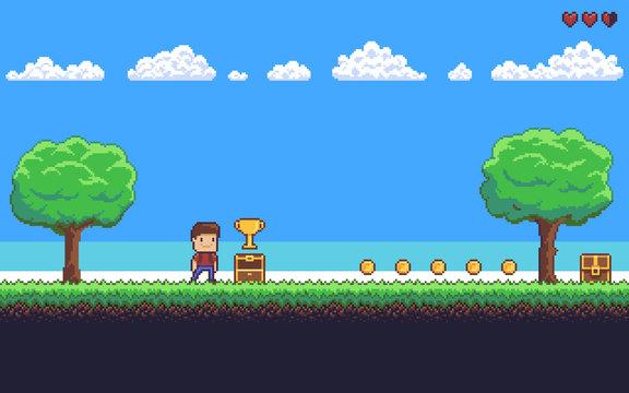 Pixel Art Scene