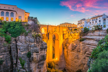 Ronda, Spain Old Town and Bridge