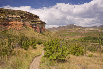 Path through the Golden Gate Highlands NP in South Africa