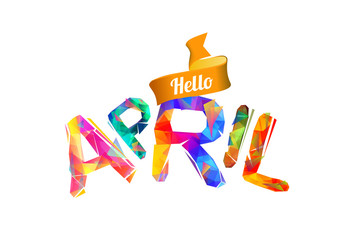 Hello april. Triangular letters