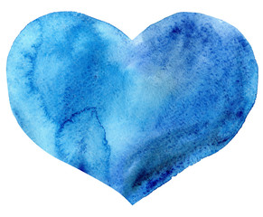 watercolor blue heart