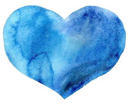 watercolor blue heart