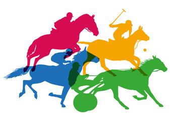 cheval - sport - course - cheval de course - équitation - champ de course - saut d'obstacle