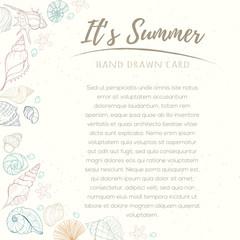 Summer paradise holiday marine card