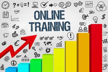 Online Training / Diagramm mit Symbole