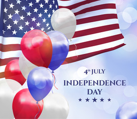 Independence day of USA 4 july, vector background