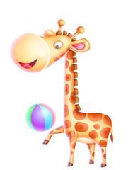 cartoon of a giraffe