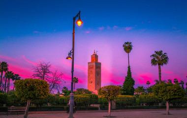 Morocco. Koutoubia mosque in Marrakesh