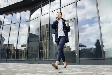 Businesswoman Leaving Work