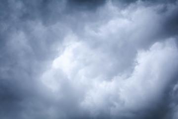 Dark sky with black clouds before rain