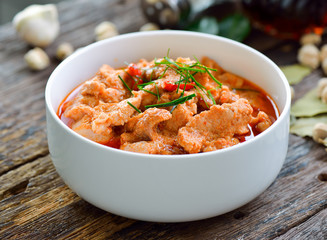 Panang curry with pork .thai food