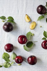 Plums over the table