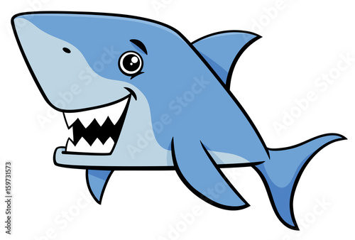 shark fish cartoon character