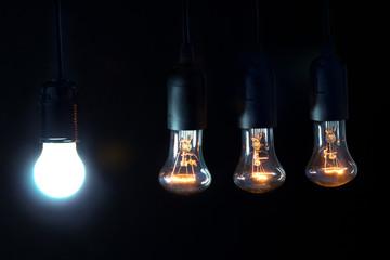 Различные типы ламп для освещения,Концепция экономии энергии