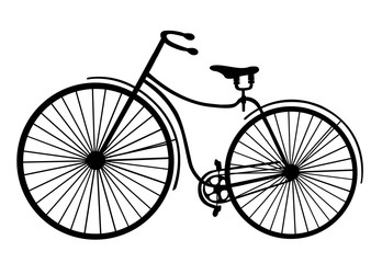 Rover safety bike silhouette isolated on white background vector illustration