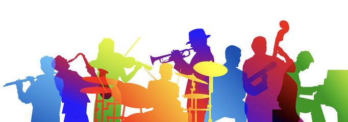 Obraz musicisti, musica, concerto, festa - fototapety do salonu