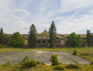 Abandoned hospital and sanatorium Beelitz Heilstatten near Berlin, Germany