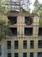 Keuken foto achterwand Oud Ziekenhuis Beelitz Abandoned hospital and sanatorium Beelitz Heilstatten near Berlin, Germany