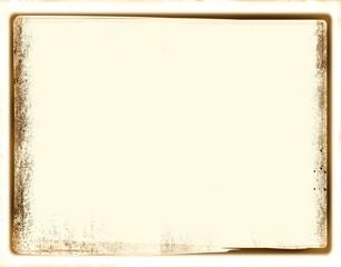 Vintage frame borders on sepia paper background.