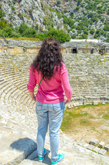 Looking at the ancient theater