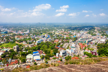 Kurunegala city aerial panoramic view