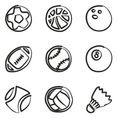 Ball Icons Freehand