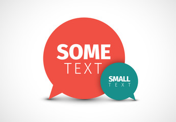 Overlapping Speech Bubble Graphic Layout