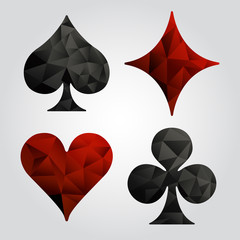 Set of playing card suits : Vector Illustration