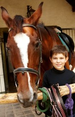Little boy with horse