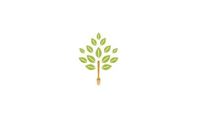 Leaf fork emblem symbol icon vector logo