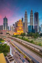 Fototapete - Kuala Lumpur. Cityscape image of Kuala Lumpur, Malaysia during twilight blue hour.