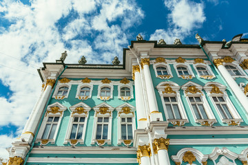 Hermitage Museum or Winter palace in Saint-Petersburg, Russia
