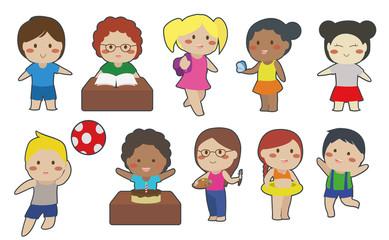 Children Vector Set