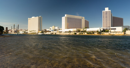 Laughlin Nevada Colorado River Waterfront Downtown City Skyline