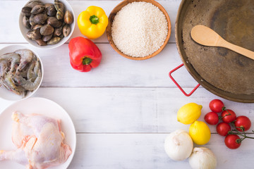 ingredients for paella