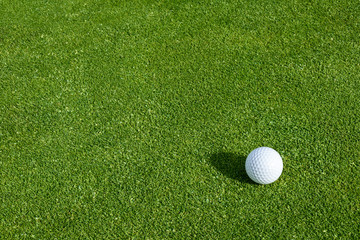 Printed roller blinds Golf Side view of golf ball on a putting green