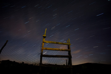 long exposure shot of the stars of night