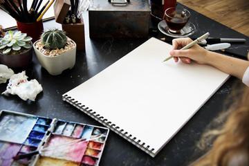 Art Drawing Sketchbook Blank Page