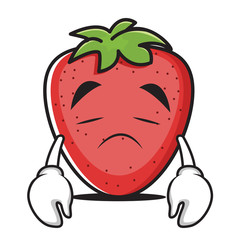 Sad face strawberry character collection