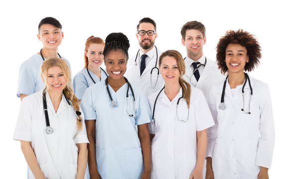 Smiling Multiracial Medical Team