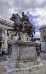 Equestrian Statue of Marcus Aurelius, Rome, Italy
