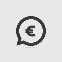 Euro Sign Speech Bubble Icon